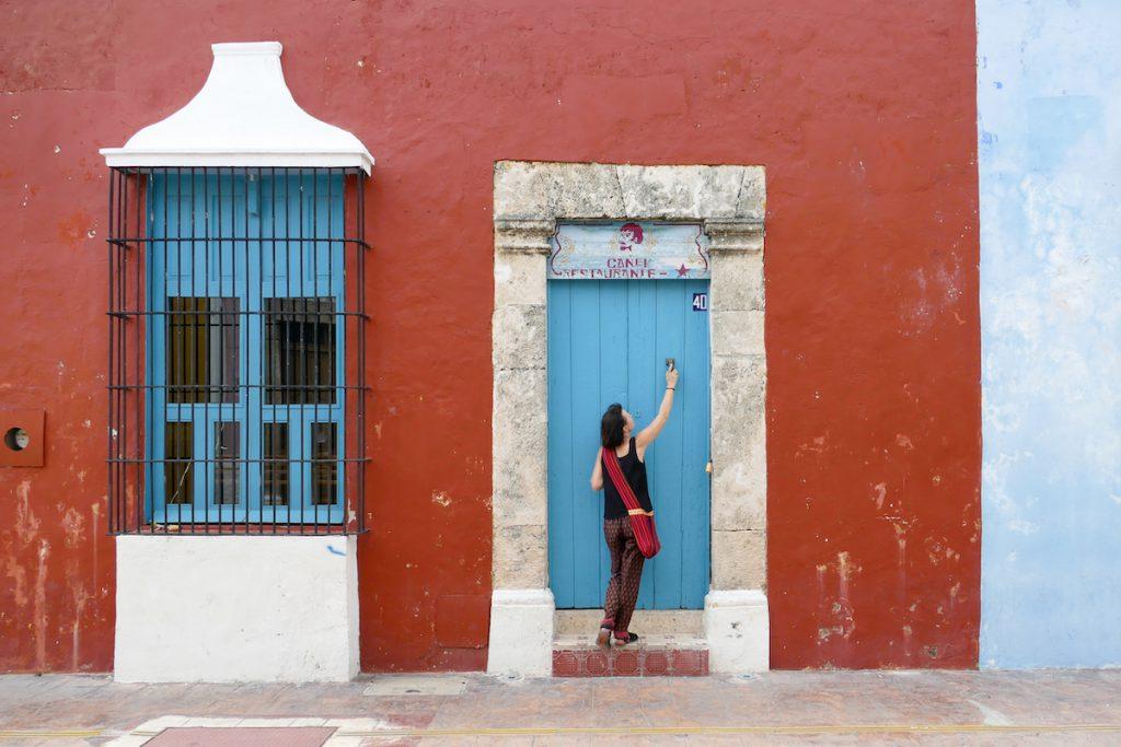 Typisch Yukatan, knallbunte Fassaden