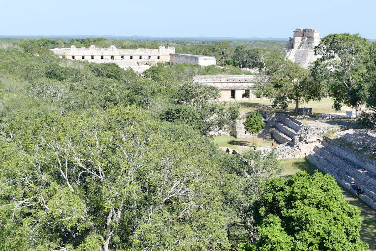 Uxmal, Blick auf die spektakuaere Mayastaette