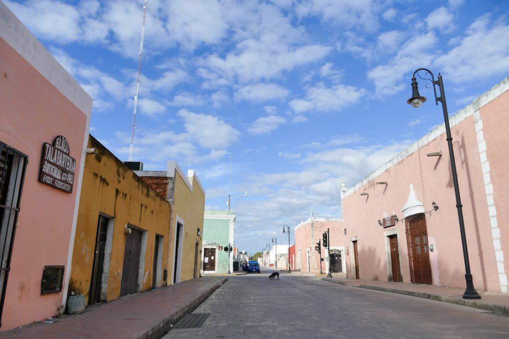 Valladolid, Haeuser in pastell