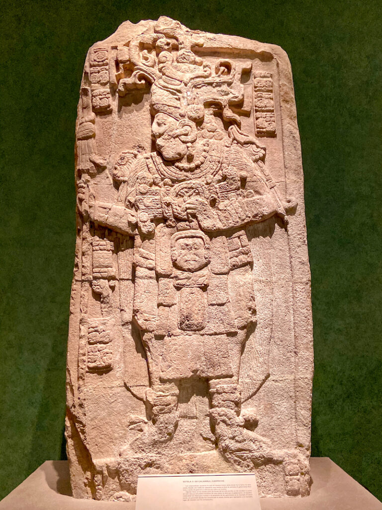 Mexico City, Anthropologisches Museum Mexico, Calakmul, Stehle