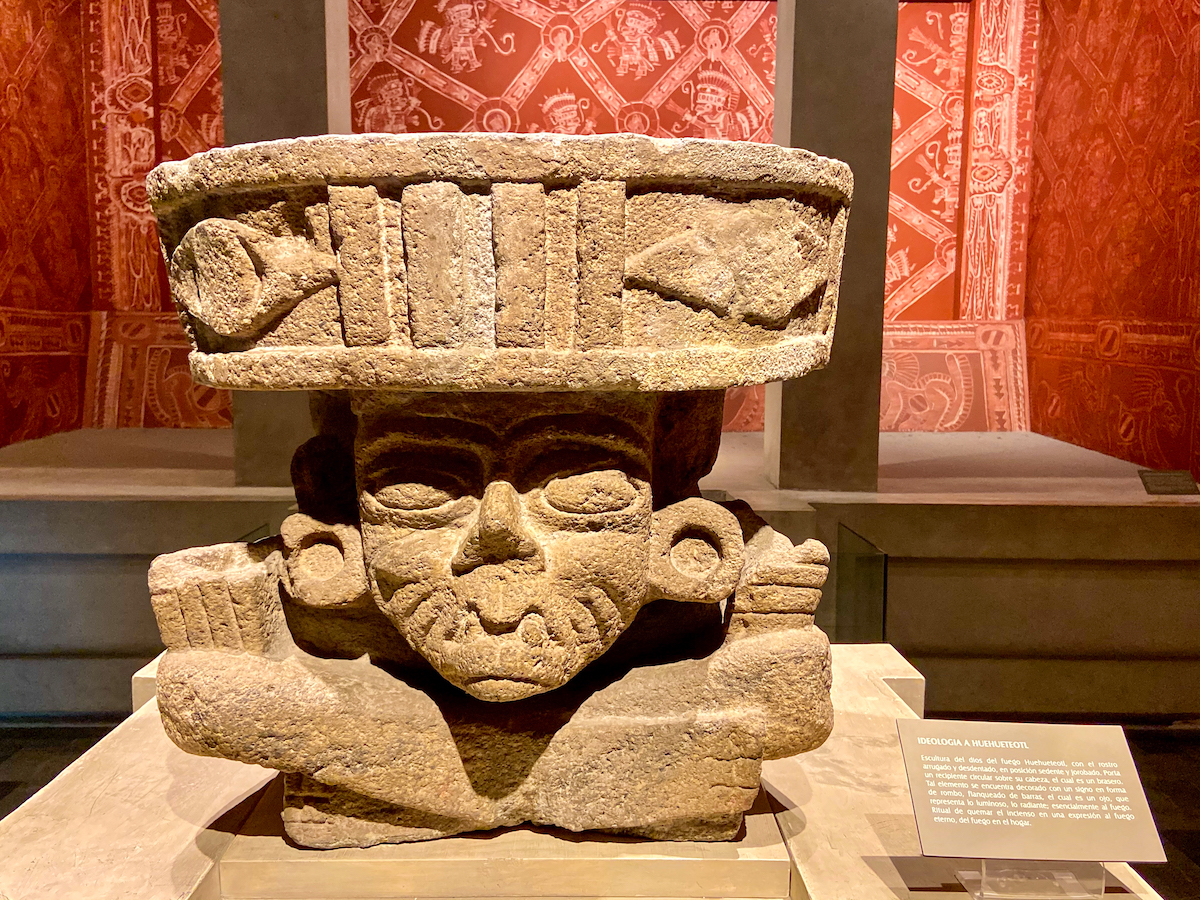 Mexico City, Anthropologisches Museum Mexico, Exponat
