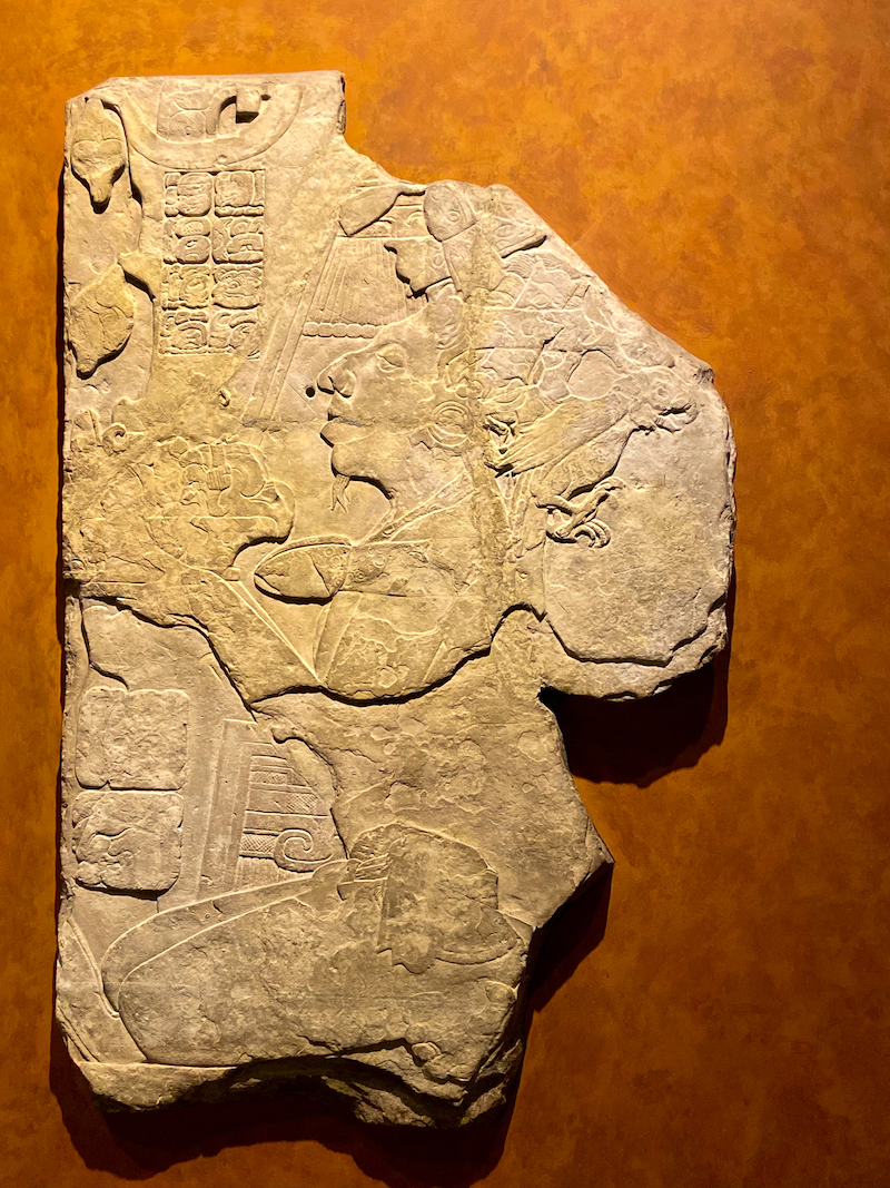 Mexico City, Anthropologisches Museum Mexico, Stele Yaxchilan